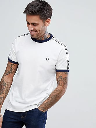 Sports Authentic - T-shirt à bandes - Blanc - BlancFred Perry