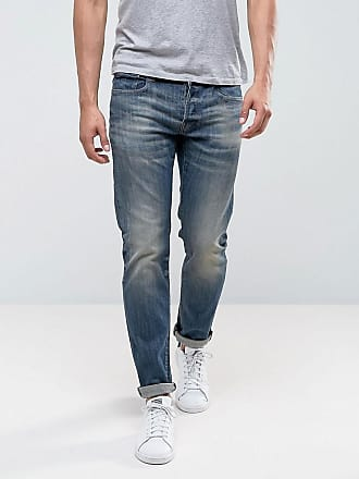 e7aea810229df affordable gstar jeans slim fit blue delm stretch mid wash blue with g star  jeans