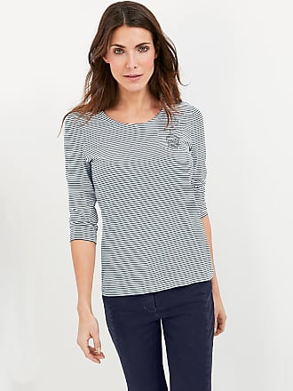 3/4-sleeve top with lurex stripes blue female Gerry Weber