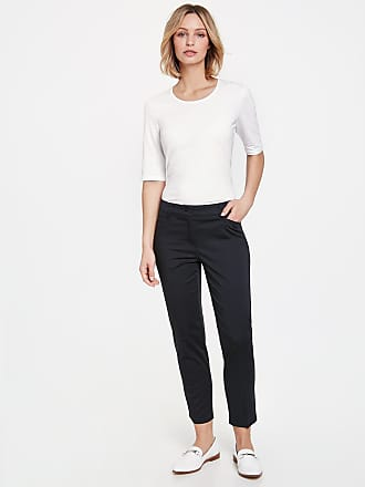 7/8-length trousers with fine side stripes green female Gerry Weber