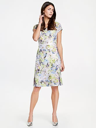 Smock dress with a printed border black female Gerry Weber
