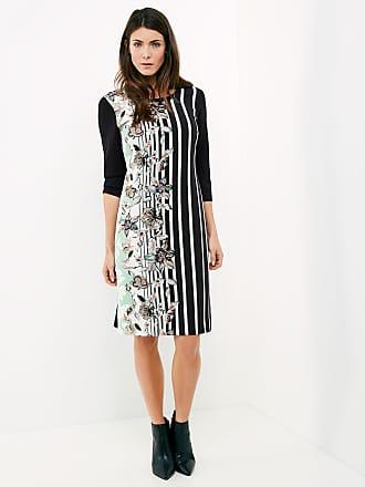 3/4-length sleeve dress with a waist belt black female Gerry Weber
