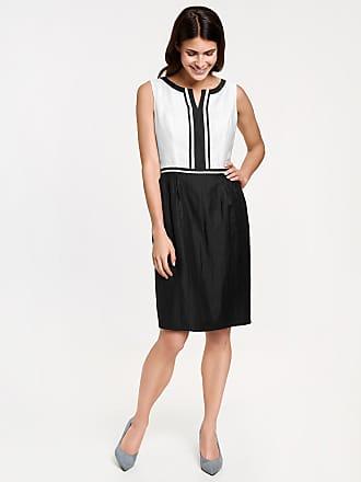 Linen blend sheath dress black female Gerry Weber