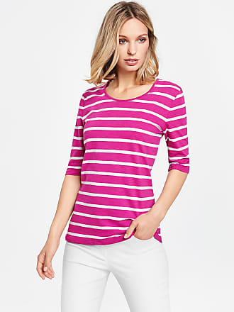 3/4-sleeve top in a panelled look, Limited Edition purple-pink female Gerry Weber