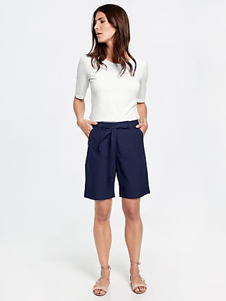 Shorts with a tie-around belt white female Gerry Weber