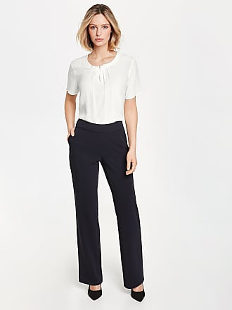 7/8 trousers with a decorative hem blue female Gerry Weber