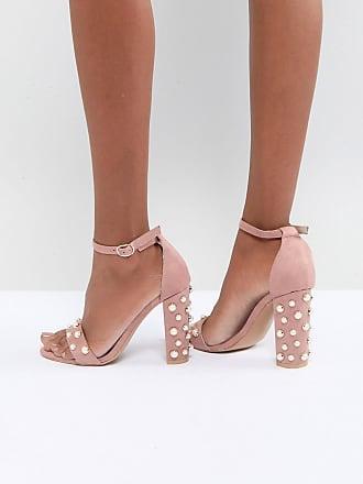 Glamorous - Sandales minimalistes vernies à talons carrés