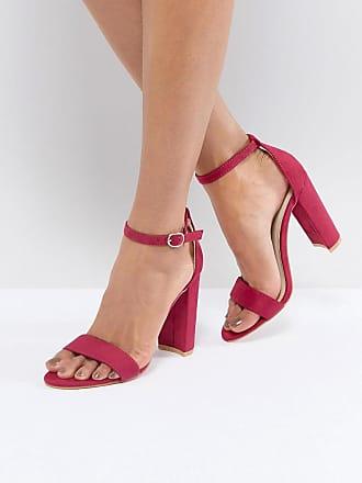 Sandales À Talons De Bloc Rose - Fuscia Glamour