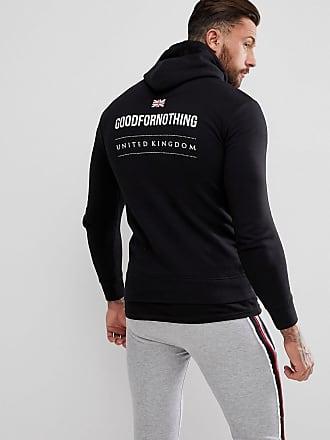 Sudadera negra con capucha y estampado reflectante en la parte posterior exclusiva en ASOS de Good For Nothing PLUS Good For Nothing