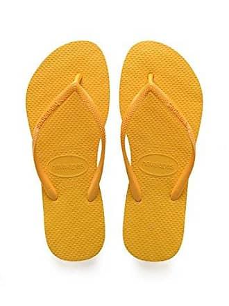 Havaianas Brasil Logo, Chanclas Unisex Adulto, Amarillo (Banana Yellow), 35/36 EU (33/34 BR)