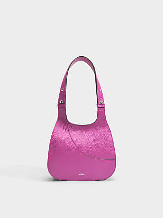 Hogan Small Crossbody Bag in Magenta Chiaro Grained Calfskin