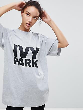 T-shirt à logo oversize - Gris - GrisIvy Park