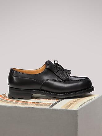 De Larges Chaussures Derby Ajustement En Cuir Brun - Brun Wright Franc