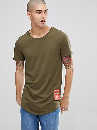Tech T-Shirt In Heavy Jersey - Olive Jack & Jones