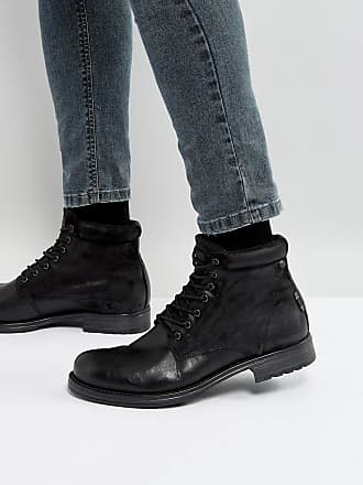 Orca - Bottines lacées en cuir - MarronJack & Jones