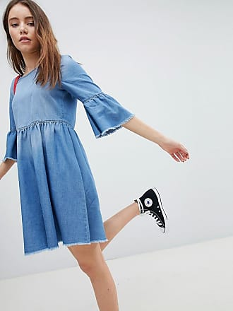 Kira Skater Dress with Circle Zip Puller - Black Jacqueline de Yong