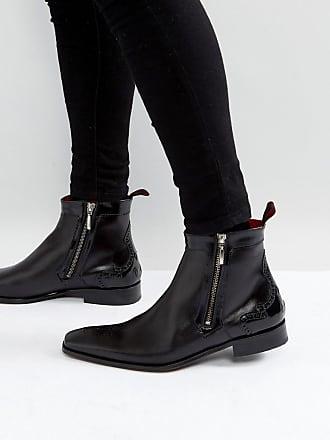 Jeffery West K103, Zapatos de Cordones Brogue para Hombre, Negro (Black Black), 42 EU