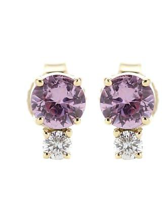 Jemma Wynne Sapphire and diamond-embellished gold earrings