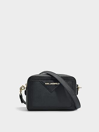 K/Klassik Kamera Tasche aus silbernem Saffiano Karl Lagerfeld