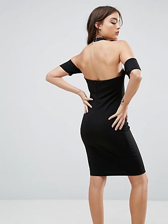 Cold Shoulder Dress With Halter Neck - Black Love & Other Things