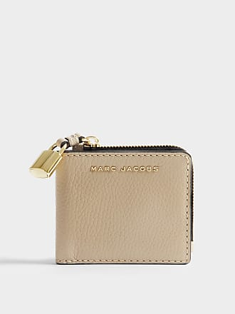Marc Jacobs Portefeuille The Grind Snap en Cuir Corail