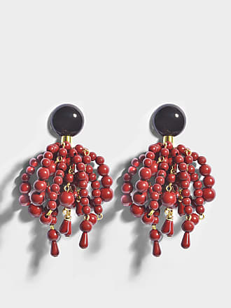 statement wood jewelry il marni listing earrings and red geometric plastic fan