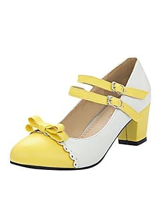 UH Damen Slingback Pumps Blockabsatz Riemchenpumps Spitz Point Toe Süße Schuhe