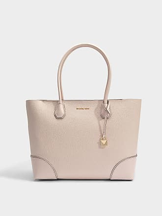 Michael Michael Kors Sac Cabas Mercer Gallery Center Zip Medium en Cuir Rose Pâle avec Volants