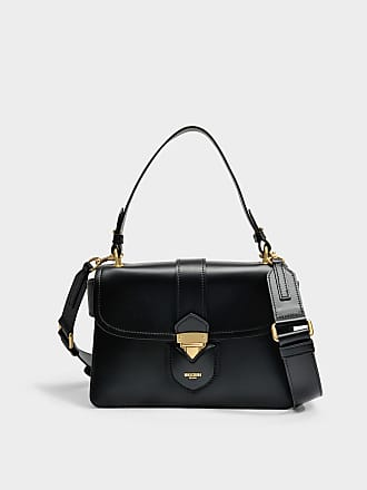 Moschino Wallet On Chain Hidden Lock en Cuir de Veau Noir