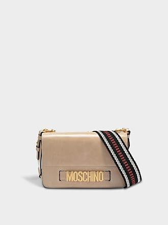 Moschino Sac Nickel Logo Flap porté travers
