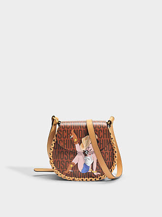 Moschino Sac Shopper Betty Boop en Cuir Camel
