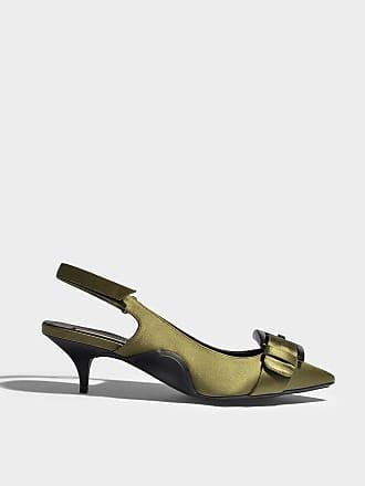 Chaussures Mule Satin Avec Des Boucles Et Des Cristaux En N21 En Tissu Synthétique Nude