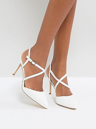 New Look - Chaussures à talon pailletées croisées sur le devant
