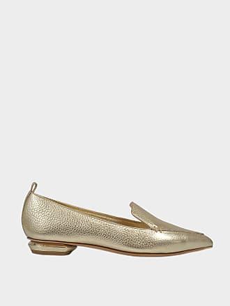 Nicholas Kirkwood Woman Metallic Woven Slip-on Sneakers Platinum Size 38 Nicholas Kirkwood