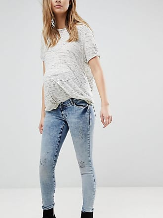 Maternity Distressed Skinny Over The Bump Jeans With Adjustable Waist - C303 grey blue denim Noppies
