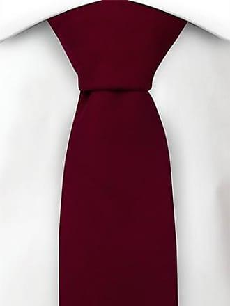 Slim tie - Solid deep raspberry red basket weave Notch