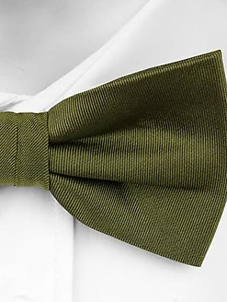 Pre tied bow tie - Green and blue striped silk knit. - Notch WERNER Notch