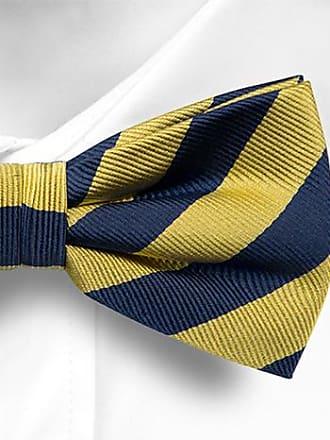 Pre tied bow tie - Yellow Chalk stripes - Notch IMRE Notch