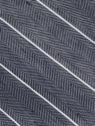 Linen Handkerchief - Thin white stripes on blue herringbone pattern - Notch SUIJIN Notch