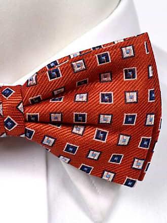 Linen Self tie bow tie - Small white dots on dark brown linen base - Notch MOGENS Notch