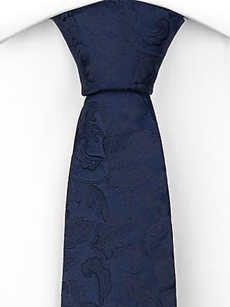 Silk Necktie - Plaid pattern in various blue shades, black and white - Notch KEKE Notch