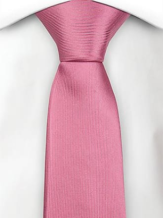 Slim necktie - Broad green and pink stripes and thin white lines Notch