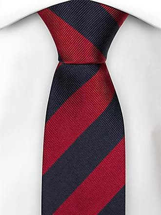 Handkerchief - Thin bengal stripes in red and white Notch