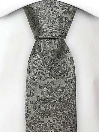 Slim necktie - Light grey twill with dark grey pin dots Notch