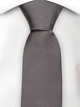 Necktie - Frosty herringbone pattern in silver grey melange Notch