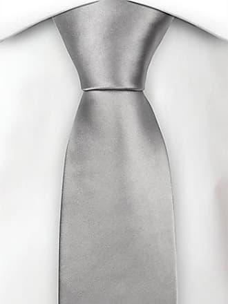 Silk boys tie medium - Solid silver - Notch MAGISKT SILVER Notch
