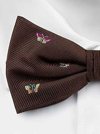 Silk Handkerchief - Brown base and small multicoloured butterflies - Notch TITLI Notch