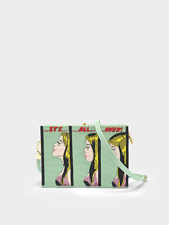 Its All Over Strapped Book clutch - Green Olympia Le-Tan