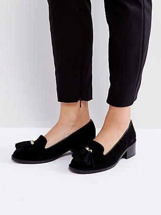 Park Lane Chaussures plates en daim à bouts pointus et glands