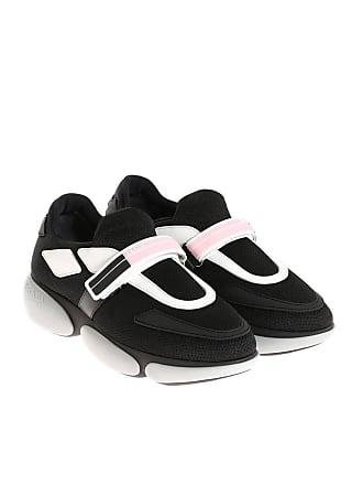 Chaussures De Sport En Tricot Prada - Blanc